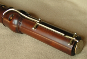 Bell key for Stanesby tenor recorder