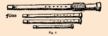 a consort of Renaissance recorders illustrated by Virdung