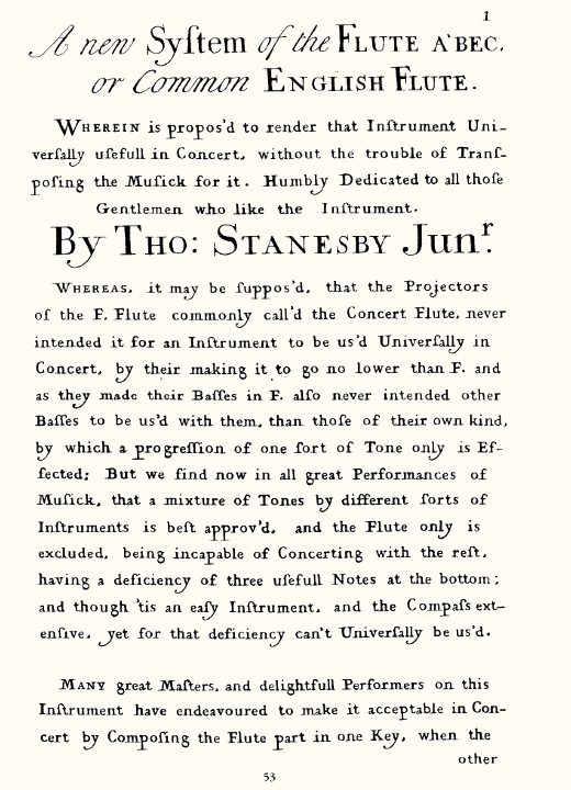 texte de stanesby page 1